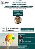 Parent's Webinar: Love You Zindagi: Instilling Positivity in Children