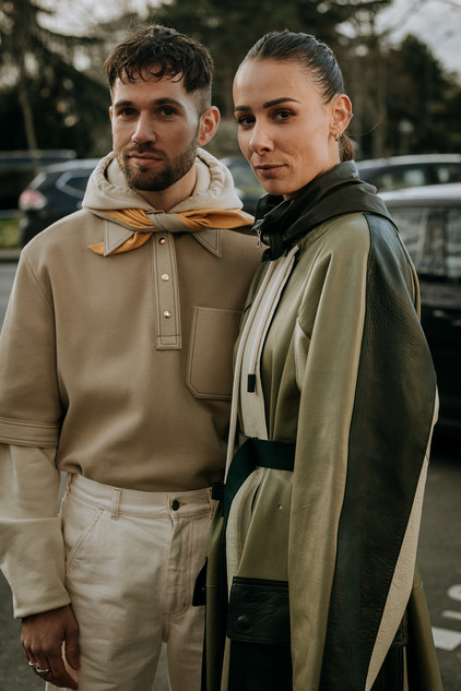 Charlotte Deckers Photography   FashionWeek Paris AW20 Fashion Streetstyle Lacoste Alice Barbier & Js Roques