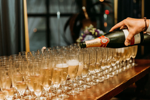 Charlotte Deckers Photography | Event Photographer | Bottle Glasses Champagne