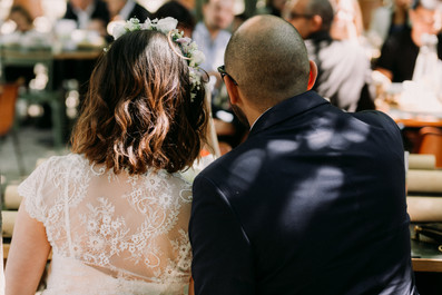Charlotte Deckers Photography | Wedding Photographer | Bridal Couple from Back