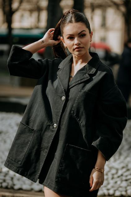 Charlotte Deckers Photography   FashionWeek Paris AW20 Fashion Streetstyle Miumiu Thylane Blondeau