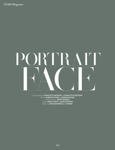 PORTRAIT FACE | GMARO Magazine | Charlotte Deckers Photography