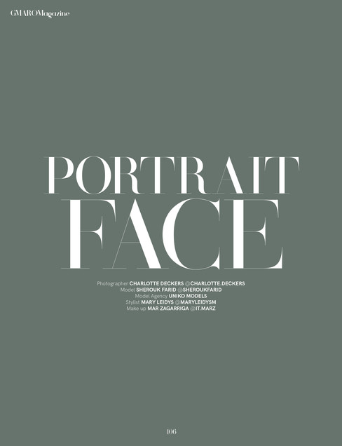 PORTRAIT FACE | GMARO Magazine | Charlotte Deckers Photography
