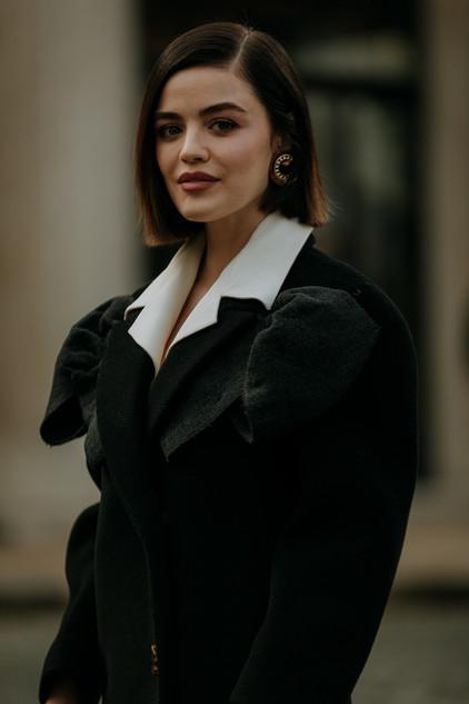 Charlotte Deckers Photography   FashionWeek Paris AW20 Fashion Streetstyle Miumiu Lucy Hale