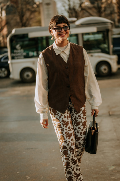 Charlotte Deckers Photography   FashionWeek Paris AW20 Fashion Streetstyle Maria Bernad