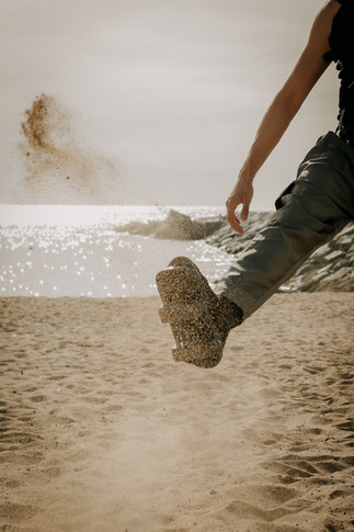 Charlotte Deckers Photography | Closeup Shoes in Sand | Fashion Photographer | Barcelona