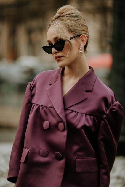 Charlotte Deckers Photography   FashionWeek Paris AW20 Fashion Streetstyle Miumiu Victoria Pedretti