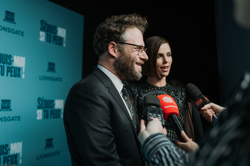 Charlotte Deckers Photography | Event Photographer | Seth Rogen Charlize Theron Interview Warner bross
