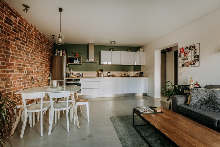 Charlotte Deckers Photography   Interior Photographer   IMMO Apartment Living Room Kitchen