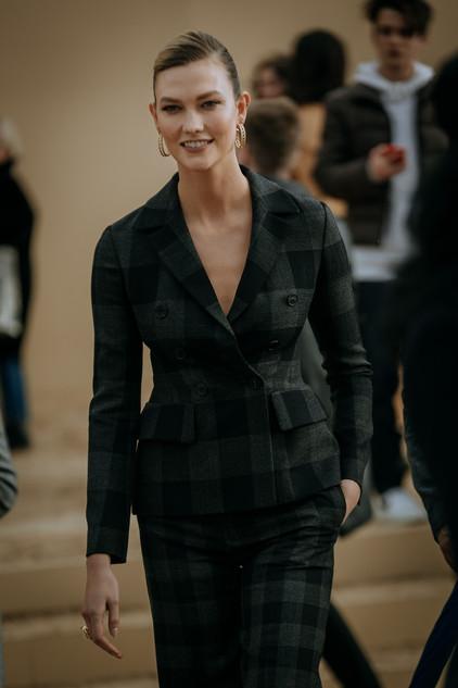 Charlotte Deckers Photography   FashionWeek Paris AW20 Fashion Streetstyle Dior Karlie Koss