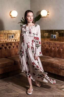 Charlotte Deckers Photography   Fashion Editorial Interior Photoshoot Female Model flower dress