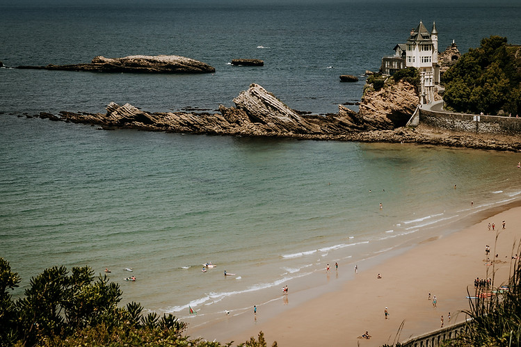Charlotte Deckers Photography | Travel Photo | Landscape over Atlantic Ocean Biarritz Castle