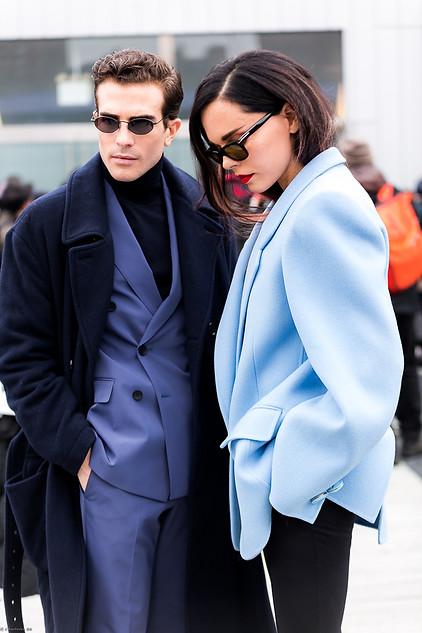 Charlotte Deckers Photography   FashionWeek NewYork AW19 Fashion Streetstyle Carlos Estini & Styleheroine