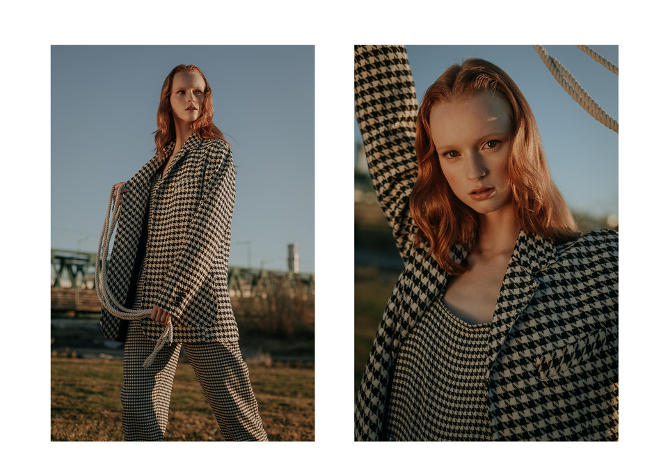 Charlotte Deckers Photography | Fashion Editorial Photoshoot Exterior Female Model in Suburbs
