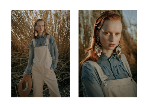 Charlotte Deckers Photography | Fashion Editorial Photoshoot Exterior Female Model in High Grass