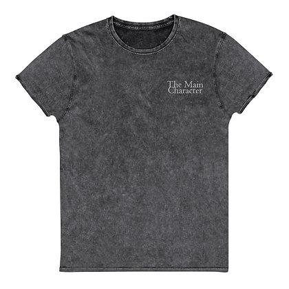 """The Main Character"" Men's Denim T-Shirt"