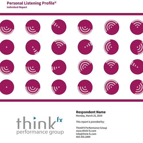 Personal Listening Profile
