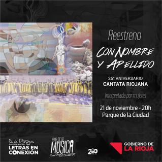 """Reestreno de la obra """"Con nombre y apellido"""", la Cantata Riojana interpretada por mujeres"""