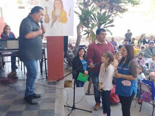 Sergio Galleguillo coronó un exitoso cierre del Ateneo de Lengua en la Escuela 37 de Pango