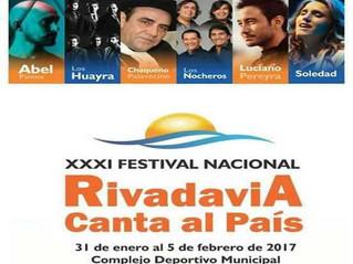 Del 31 de enero al 5 de febrero, Rivadavia le Canta al País