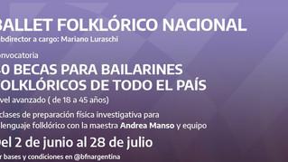 Becas para capacitación destinadas a bailarines y bailarinas folklóricas de todo el país