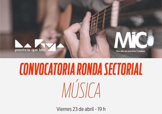Convocatoria al sector musical
