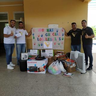 Los Legales entregaron donaciones a la Escuela N° 162 de El Recreo