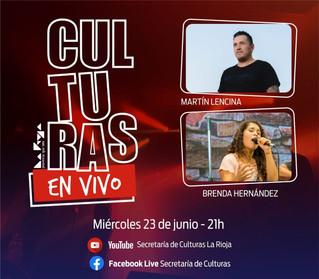 """Martín Lencina y Brenda Hernández en """"Culturas en Vivo"""""""
