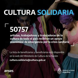 Beneficiarios y beneficiarias del apoyo extraordinario Cultura Solidaria