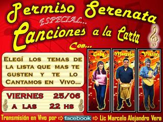 """Nueva edición de """"Permiso Serenata"""""""