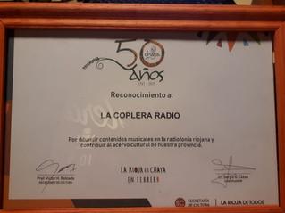 Reconocimiento a La Coplera Radio