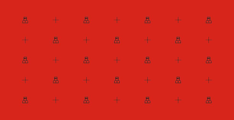 Pattern pour Hirsute75. Élément de design pouvant être appliqué sur de multiples supports de la marque.