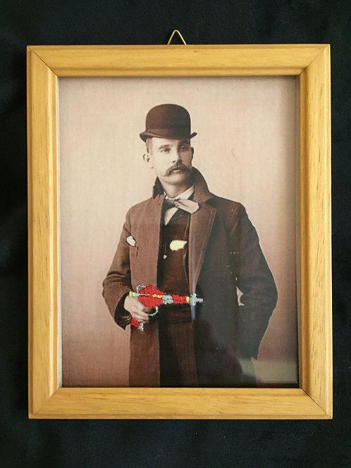 Gentleman au laser gun rouge