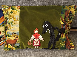 coussin chaperon rouge #madamhehuguette
