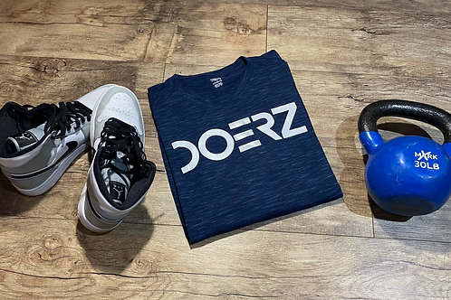 Doerz  Navy and Silver Tee