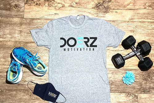 Doerz Grey and Teal Tee