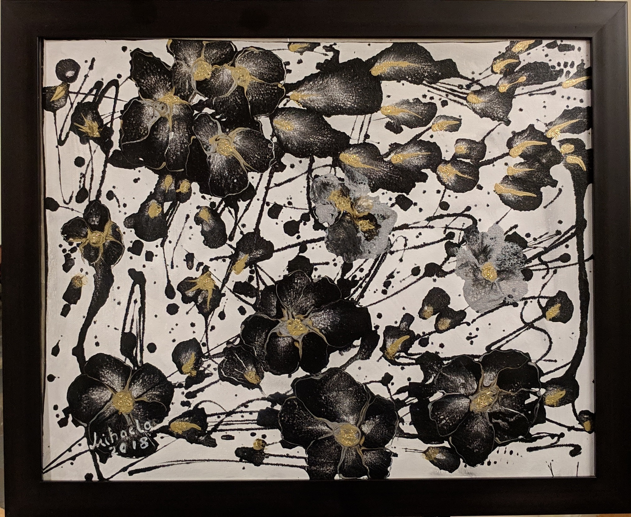 Disarray: Black and White Flowers
