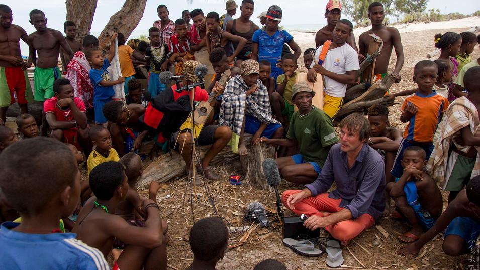 Filming Ankevio village in Madagascar