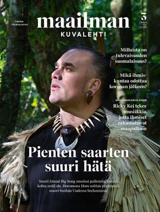 Finnish magazine maailmankuvalehti feat. SIBS & Horomona Horo on the cover