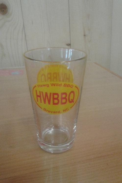 Hawg Wild pint glass