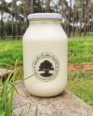 Yogur liquido en frasco retornable