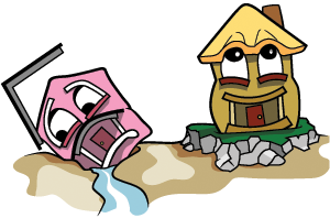 Image result for house on sand vs house on rock