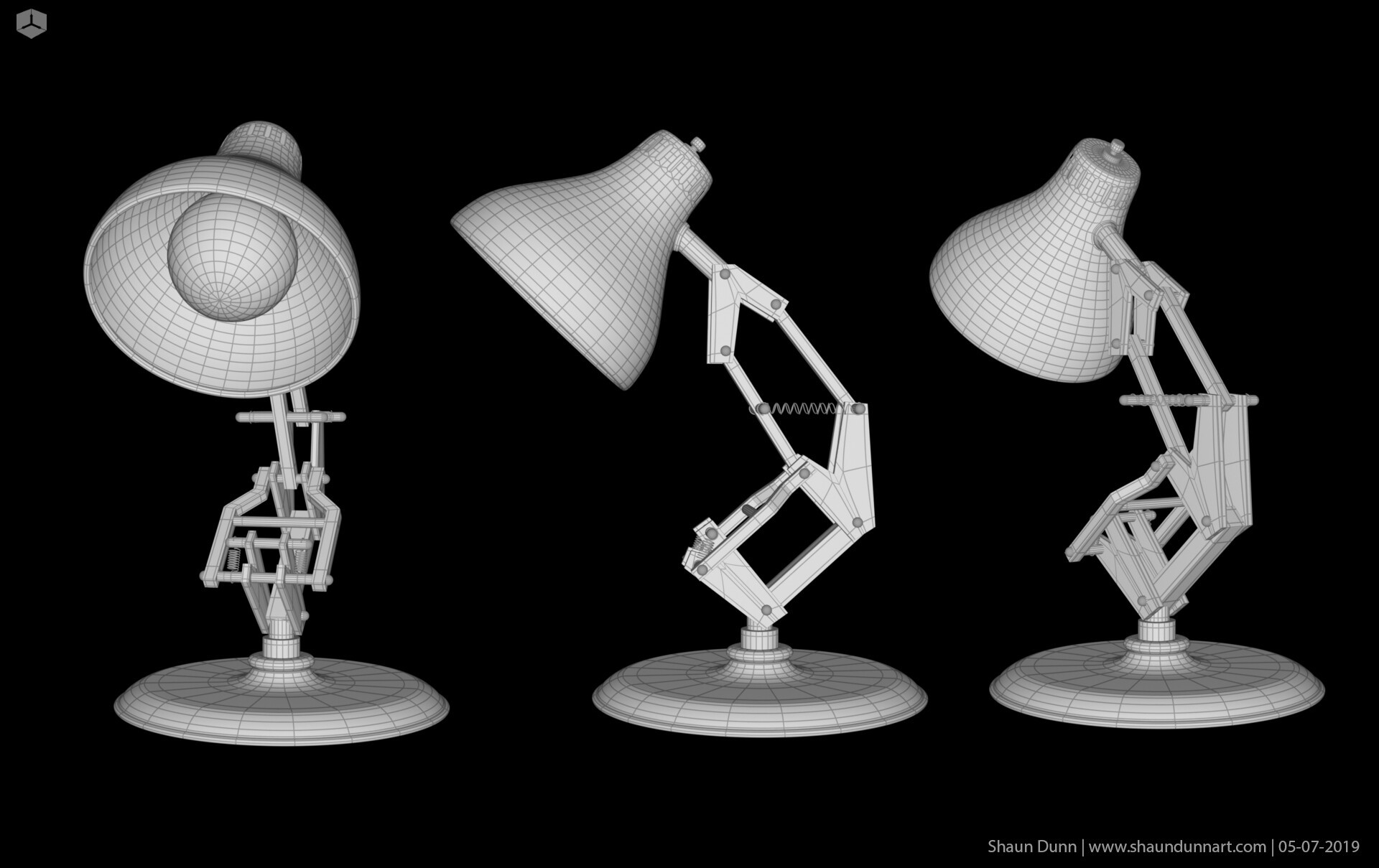 The Luxo Jr 3D model is another prop I created to help support my story.
