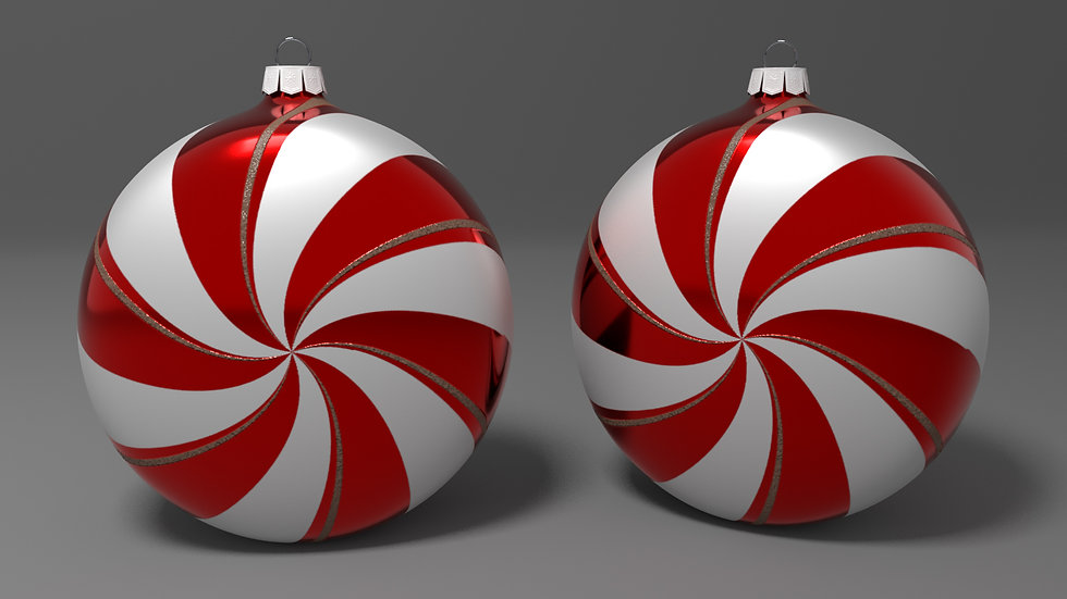 Peppermint Ornament (Four Inch)