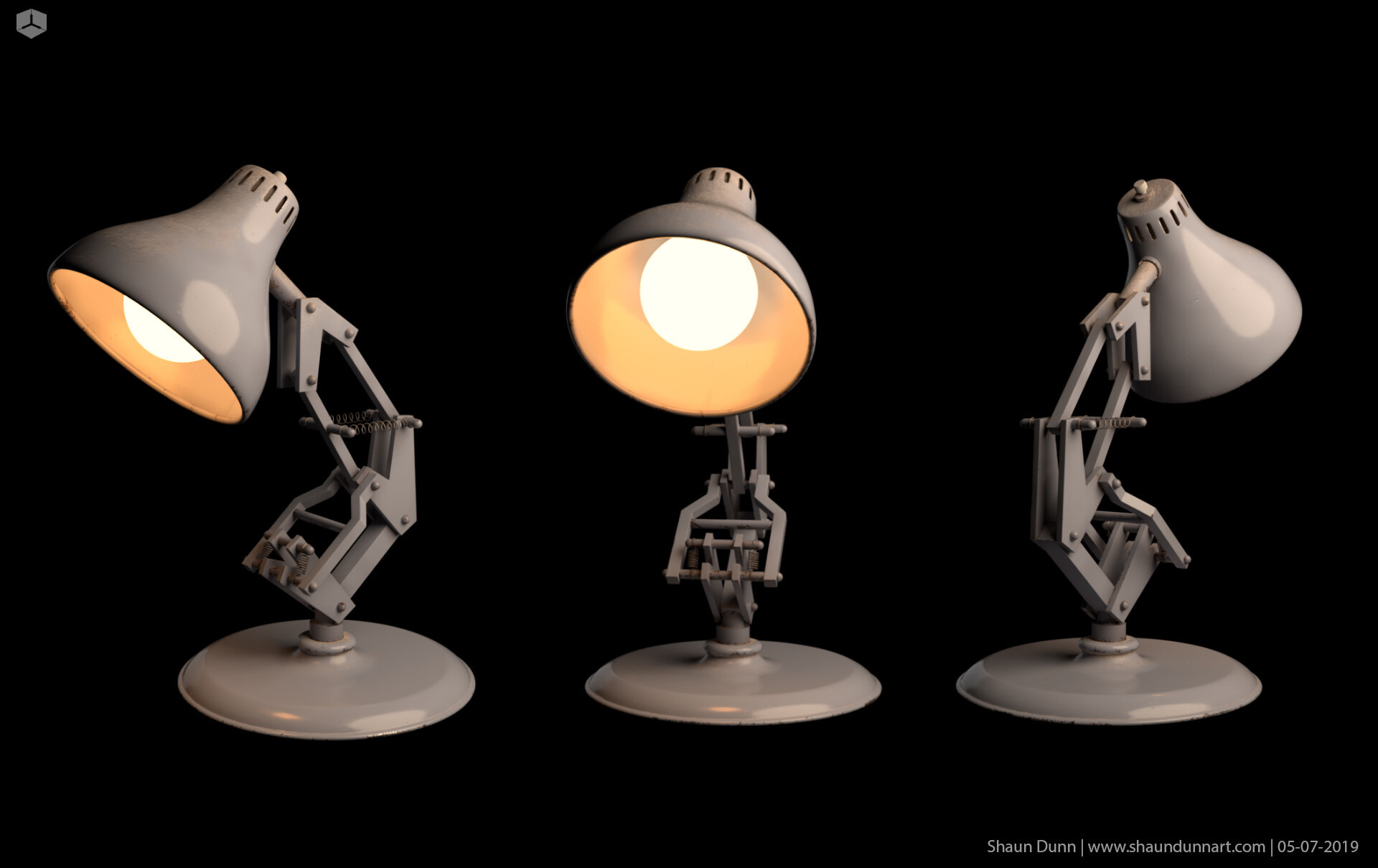 Luxo Jr textured with some fun lighting.