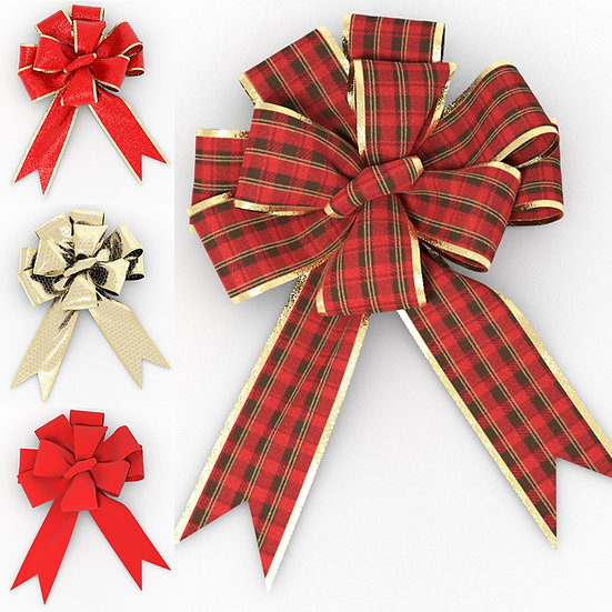 Large Christmas Bows (Six-Inch)