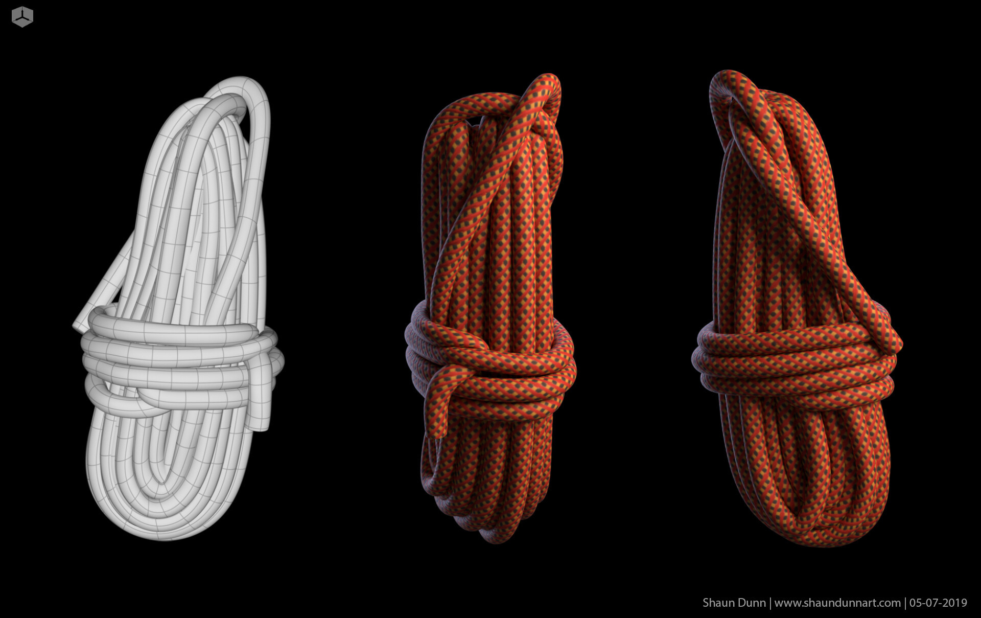 This climbing rope was pretty tricky to model at least to make it look almost exactly like the prop from the film UP with only a few images for reference.