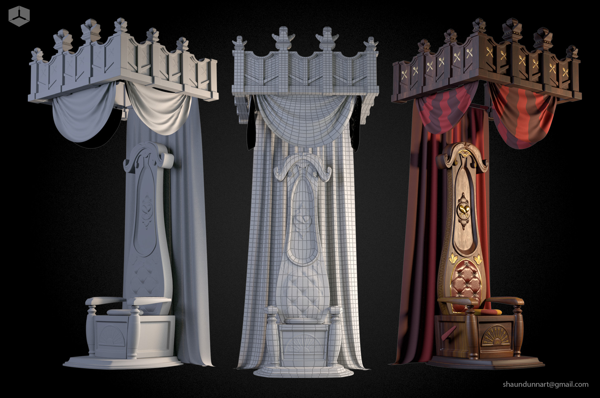 King Boggart's throne spread.