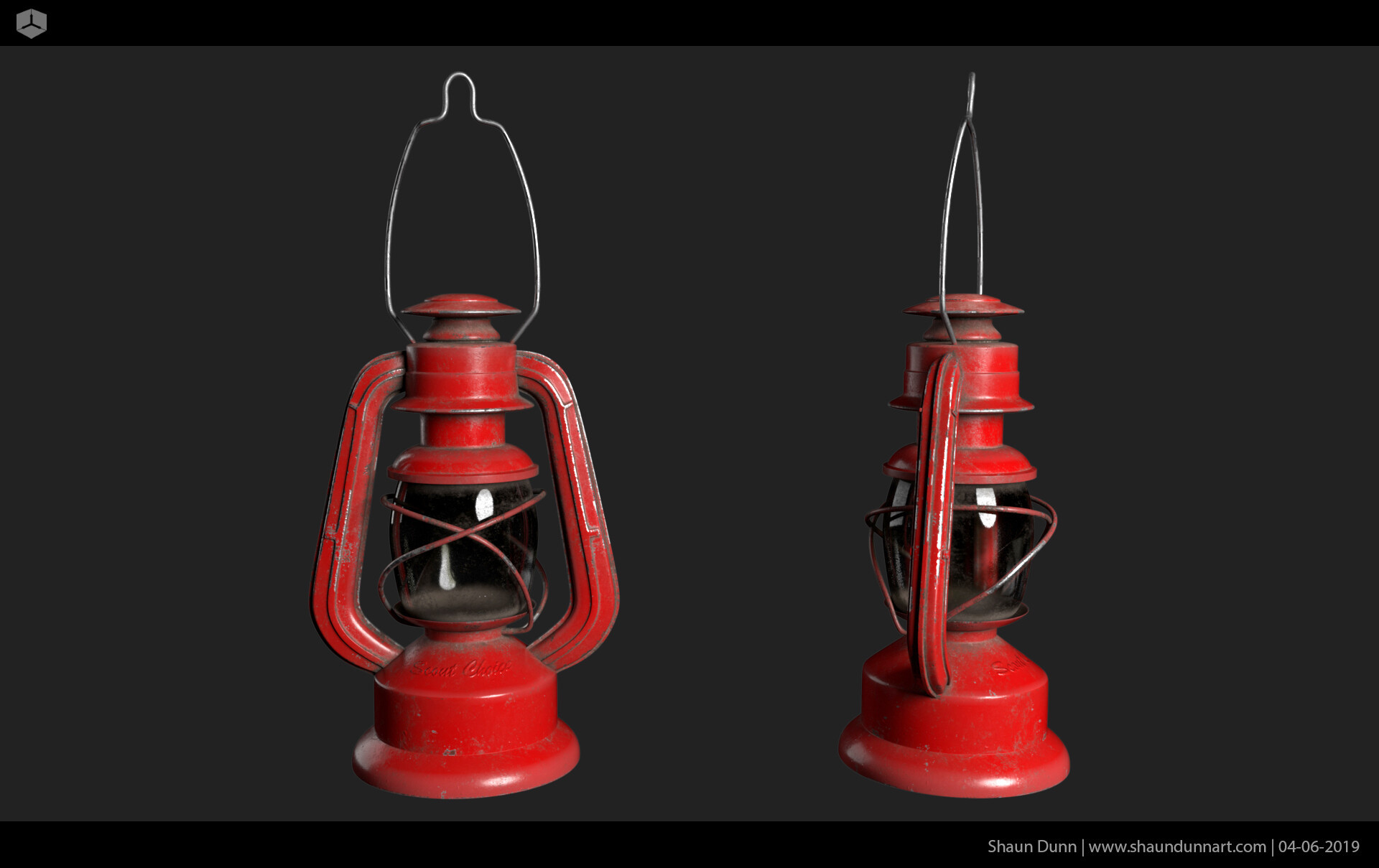 The lantern was a fun model to texture.