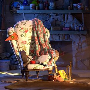 """Pixar """"Rustic Cabin"""" Art Challenge"""